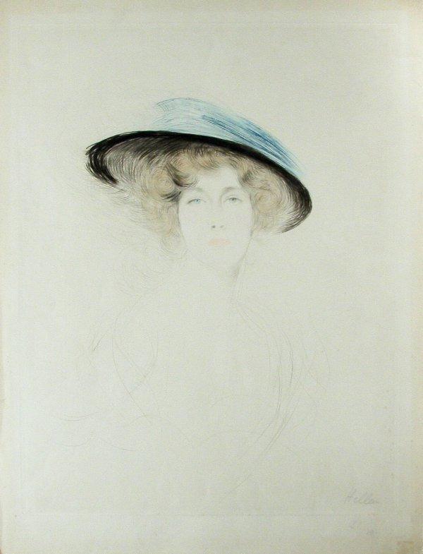 Le Chapeau A Plume – Mademoiselle Liane De Pougy by Paul Cesar Helleu