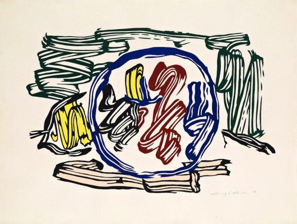 Apple And Lemon by Roy Lichtenstein