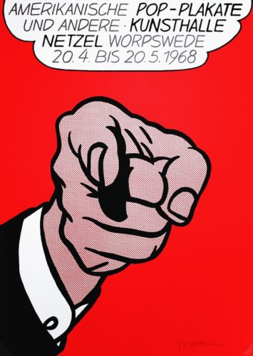 Pop-plakate Kunsthalle Netzel (finger Pointing) by Roy Lichtenstein (after) at