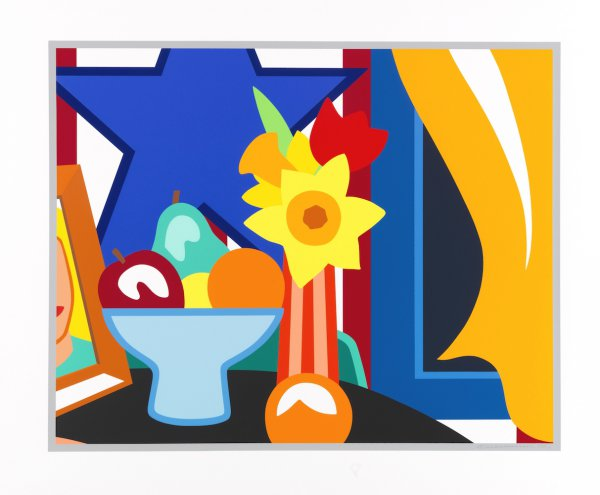 Still Life With Blowing Curtains Orange by Tom Wesselmann at Tom Wesselmann