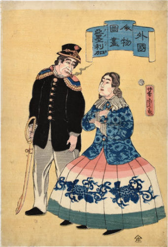 Pictures Of People From Foreign Lands: Americans by Utagawa Yoshitora