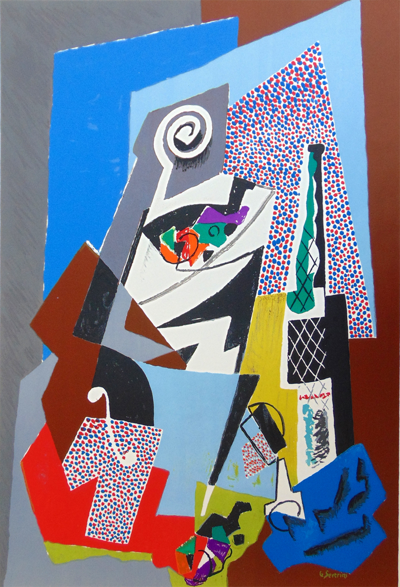 Still Life With Violin by Gino Severini
