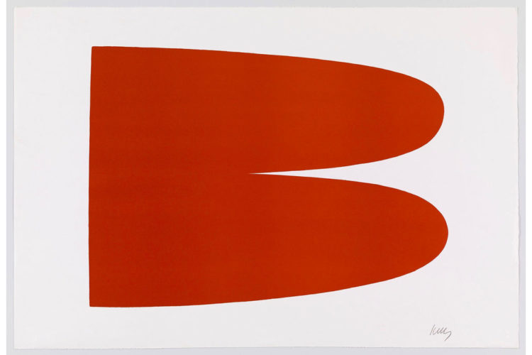 Red Orange III.3 by Ellsworth Kelly