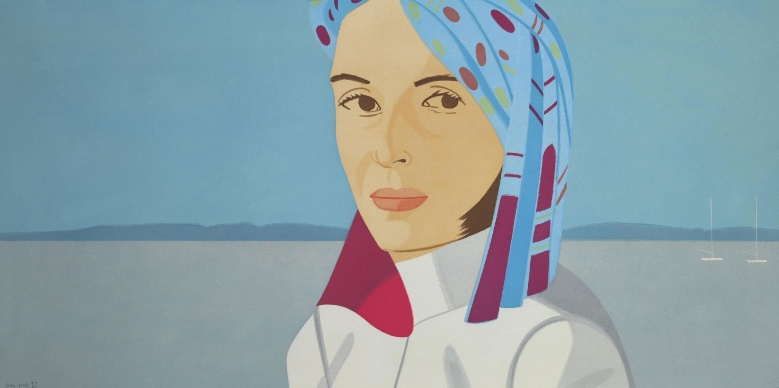 Ada In Blue Hat by Alex Katz