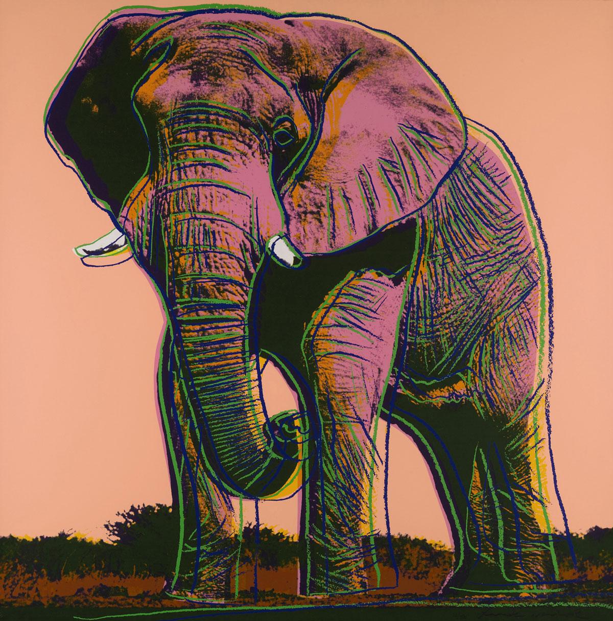 African Elephant (fs Ii.293) by Andy Warhol