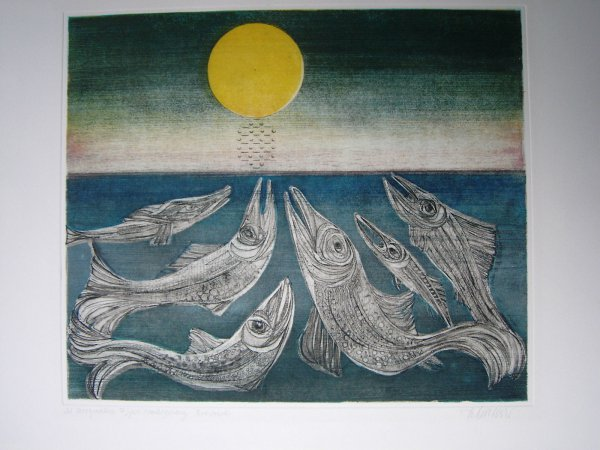 Morgenstern >fisches Nachtgesang< by Alfred Finsterer