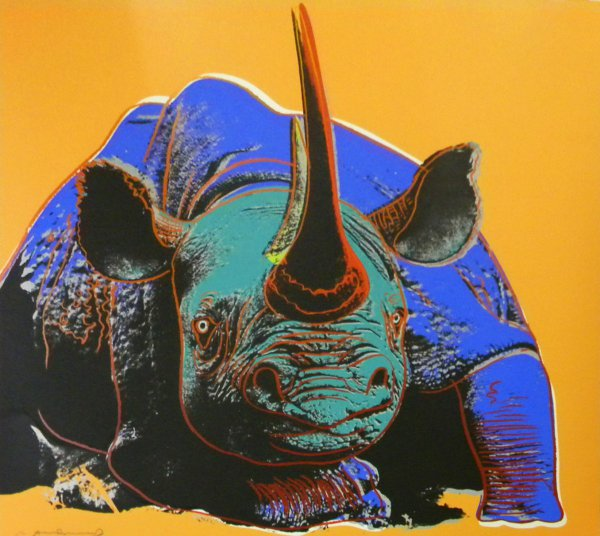 Black Rhinoceros (fs Ii.301) by Andy Warhol