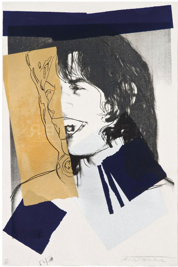 Mick Jagger (fs Ii.142) by Andy Warhol