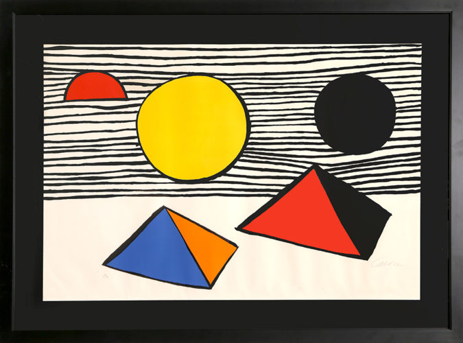 Two Half Disks by Alexander Calder at