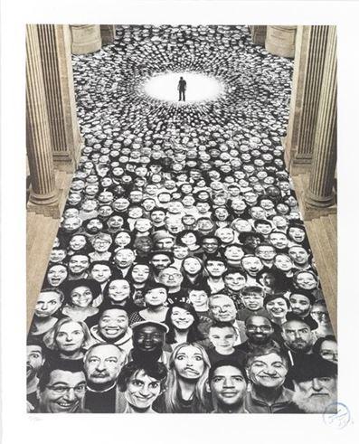 Inside Out, Au Pantheon, Nef, Paris, France by JR at JR