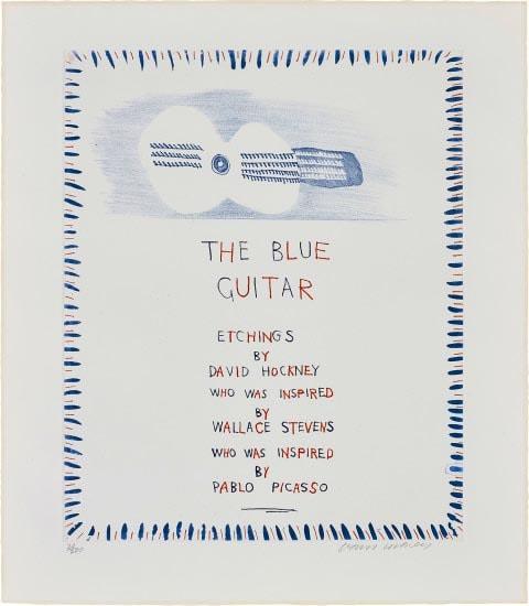 The Blue Guitar by David Hockney