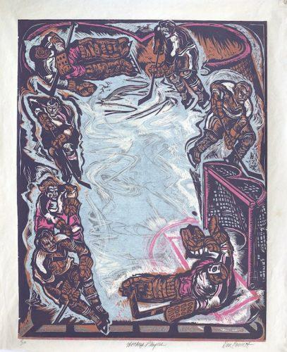 Hockey Players by Don Gorvett