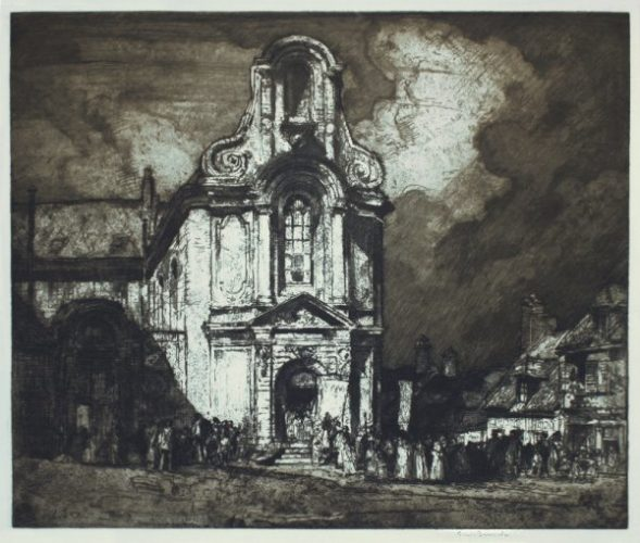 Church Of St. Austrebert, Montreuil by Frank Brangwyn at