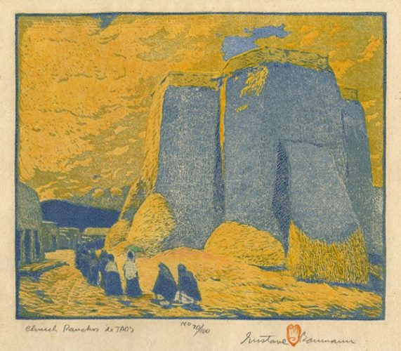 Church Ranchos De Taos by Gustave Baumann at