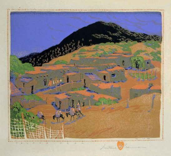 Talaya Peak by Gustave Baumann at