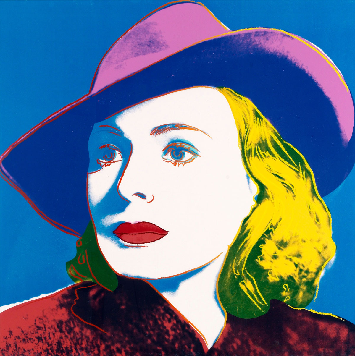 Ingrid Bergman With Hat (fs Ii.315) by Andy Warhol
