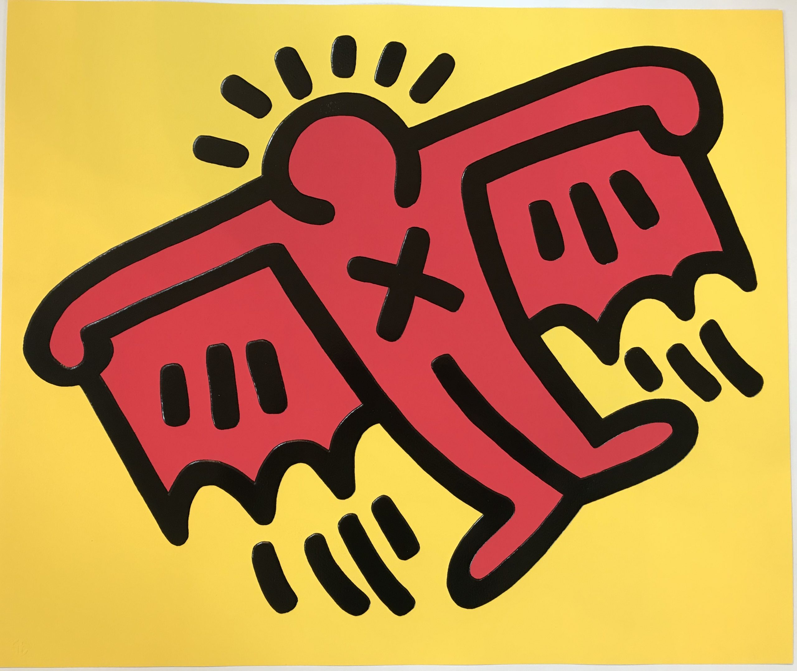 X-man From Icons Portfolio 1990 by Keith Haring