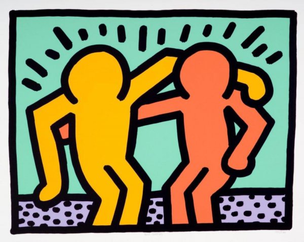 Best Buddies by Keith Haring at Keith Haring