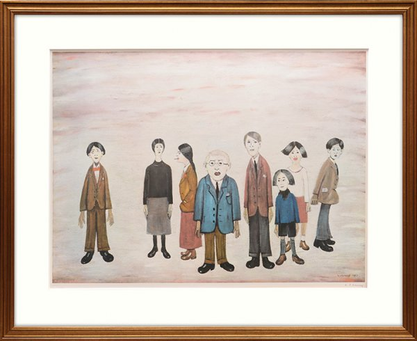 His Family by L S Lowry