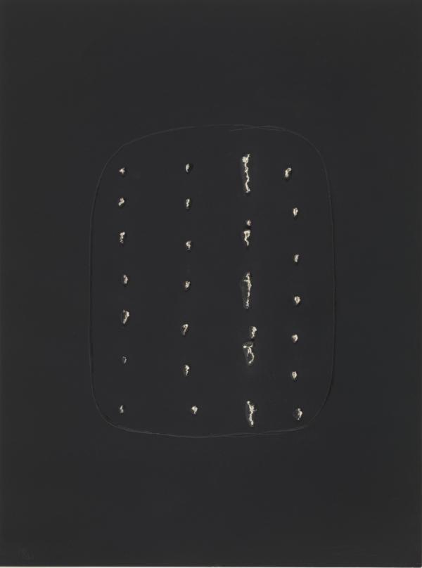 Spacial Concept A – Concetto Spaziale A by Lucio Fontana