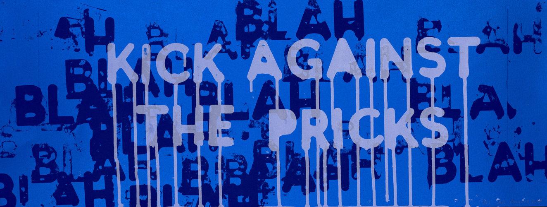 Kick Against The Pricks by Mel Bochner