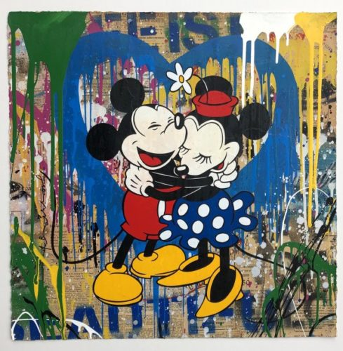 Mickey & Minnie by Mr. Brainwash at Mr. Brainwash