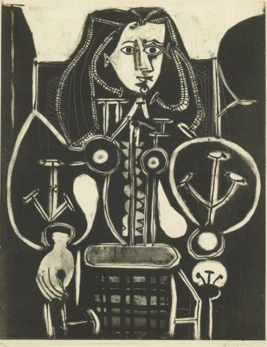Femme Au Fauteuil No 4 (d'aprés Le Violet) by Pablo Picasso