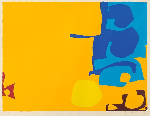 Blues Dovetailed In Yellow by Patrick Heron