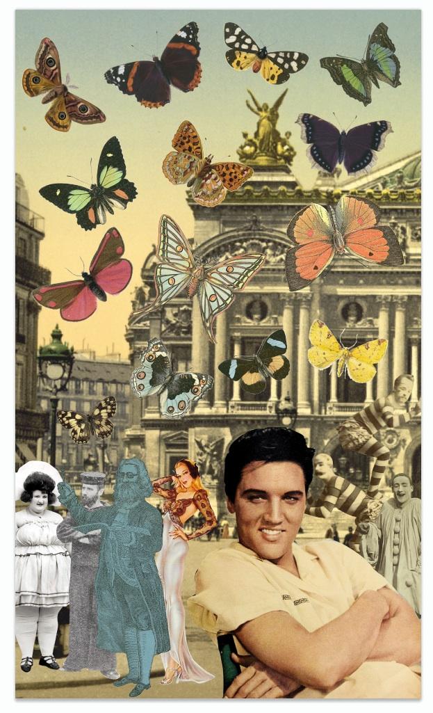 Elvis In Paris by Peter Blake