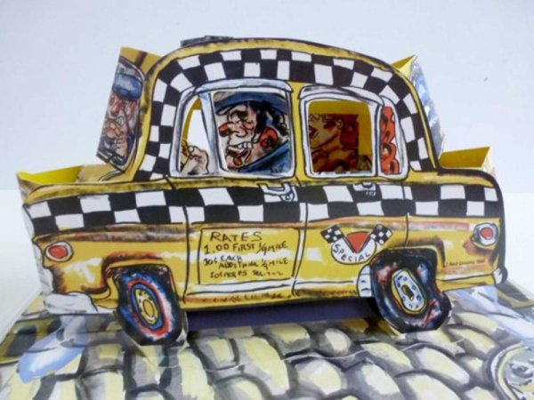 Ruckus Taxi (mini) by Red Grooms at Red Grooms