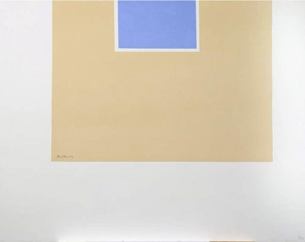 Untitled (blue/tan) From London Series Ii by Robert Motherwell