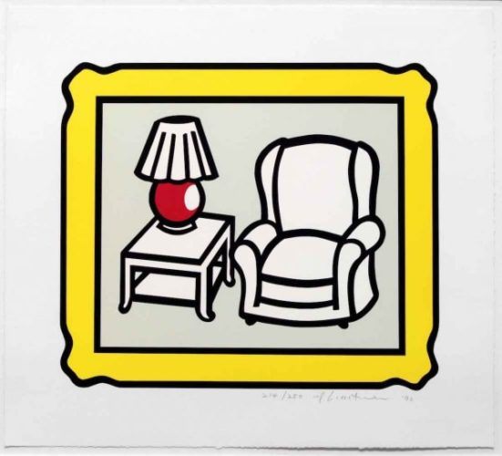 Red Lamp by Roy Lichtenstein