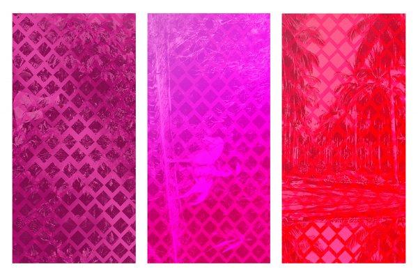 Tropical Bounds (triptych) by Sara Jimenez
