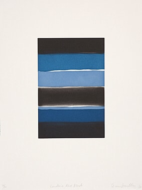 Landline Blue Black by Sean Scully at