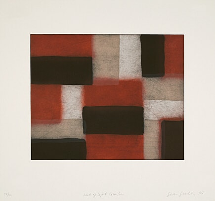 Wall Of Light Crimson by Sean Scully at