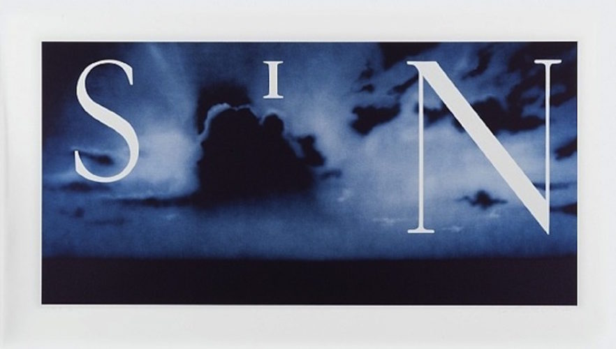 Sin – Without by Ed Ruscha