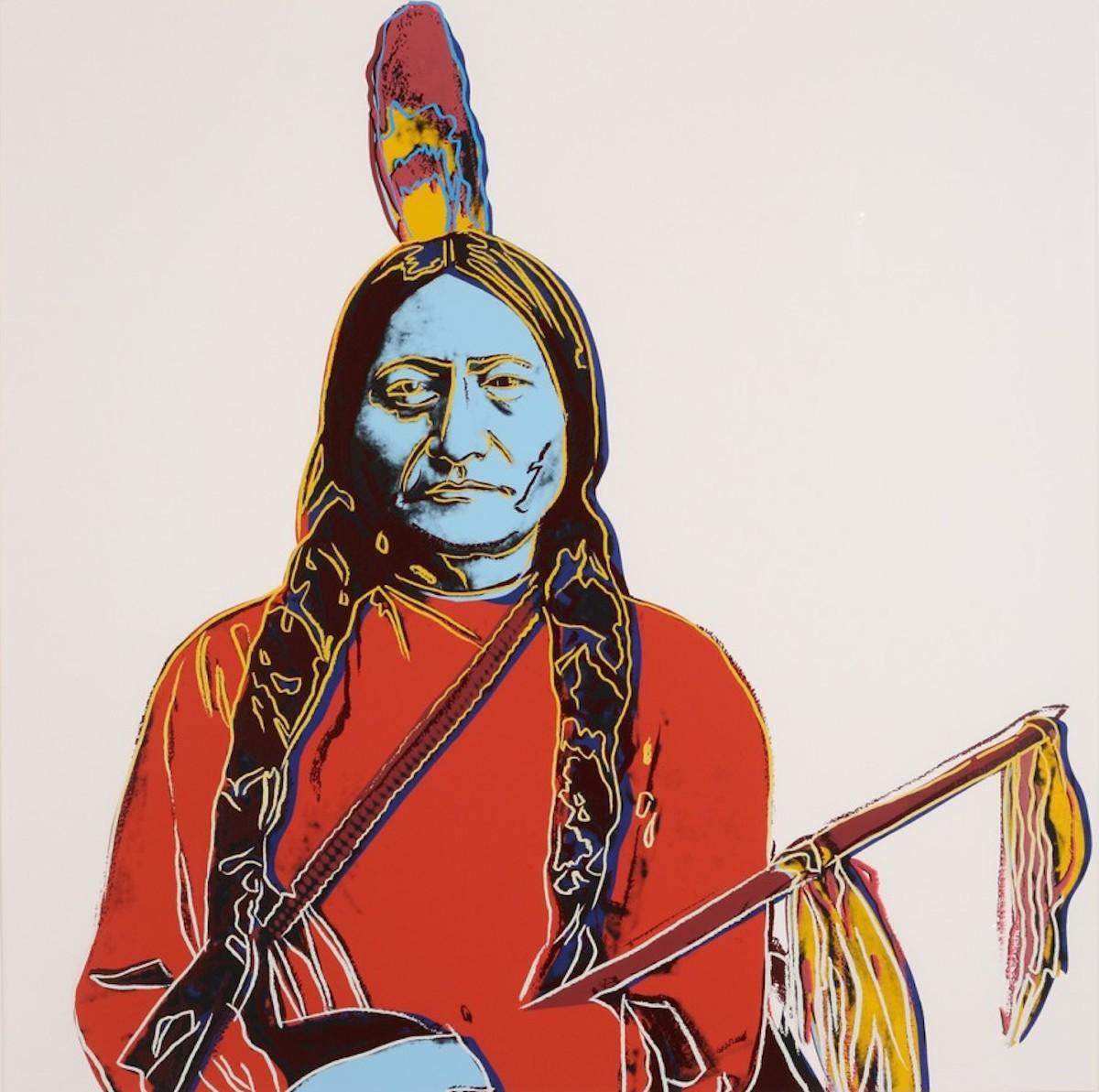 Sitting Bull A70 (fs Iiia.70) by Andy Warhol