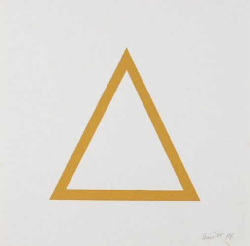 Five Geometric Figures In Five Colors, Plate #07 by Sol Lewitt