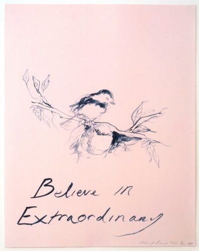 Believe In Extraordinary by Tracey Emin at