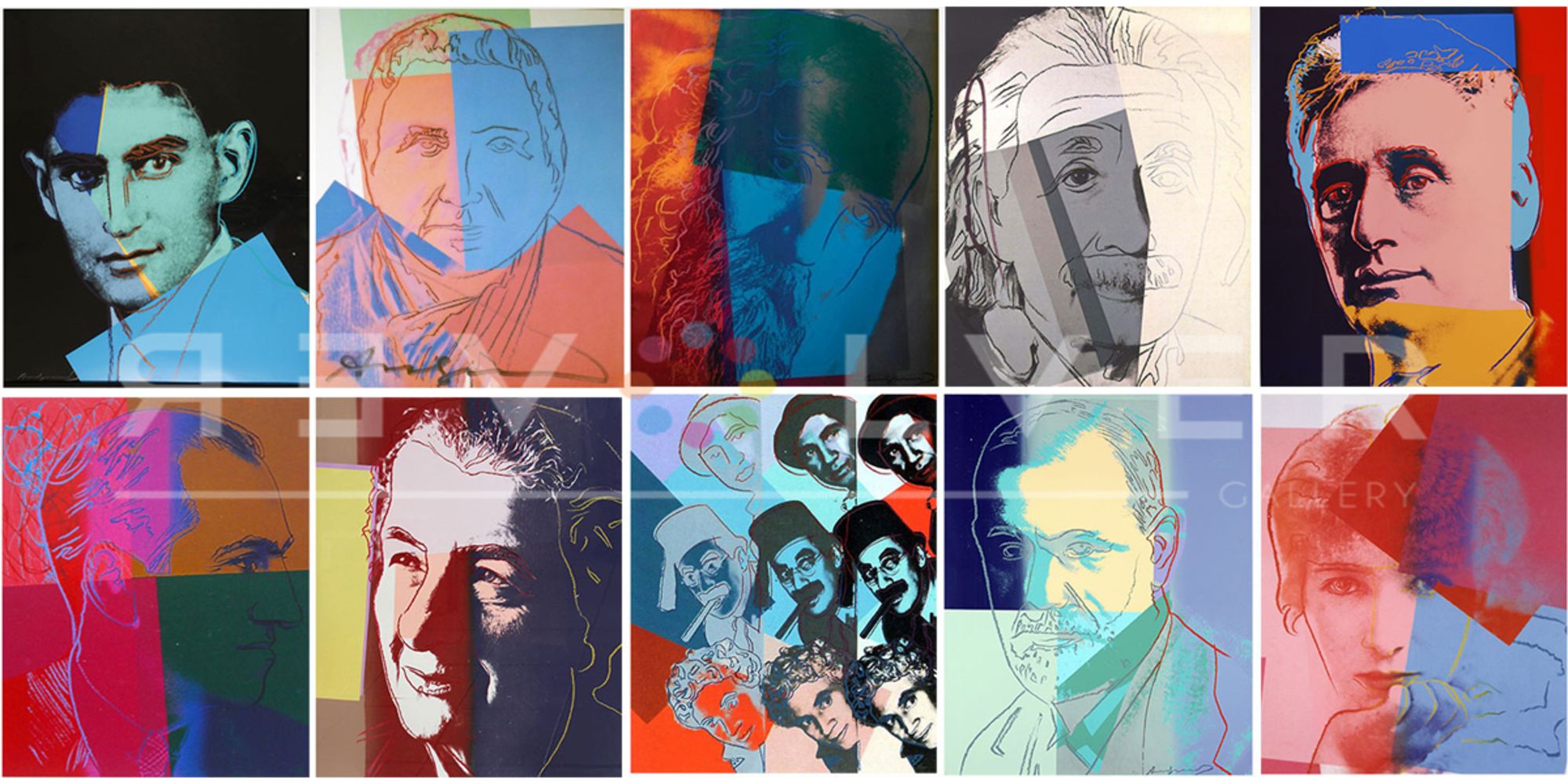 Ten Portraits Of Jews Of The 20th Cent. by Andy Warhol