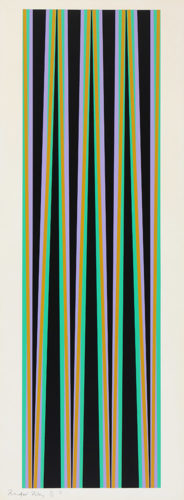 Elongated Triangles 6 by Bridget Riley at