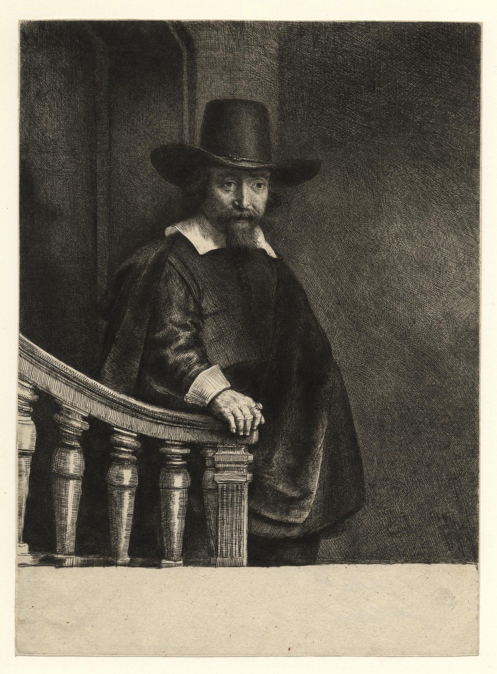Ephraim Bonus, Jewish Physician 1647 by Harmensz van Rijn Rembrandt