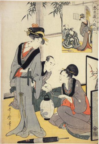Treasury Of Loyal Retainers: Act Six by Kitagawa Utamaro