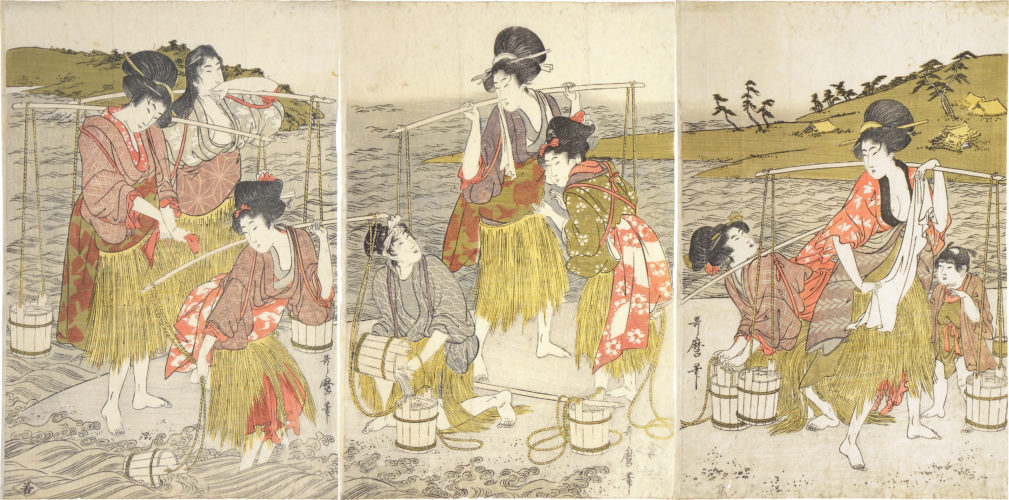Brine Carriers by Kitagawa Utamaro at