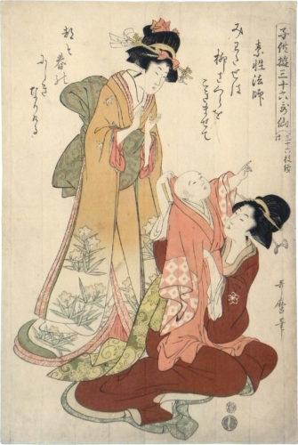 The Priest Hoshi by Kitagawa Utamaro