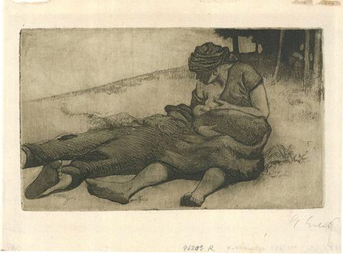 Stillende Frau by Georg Erler at