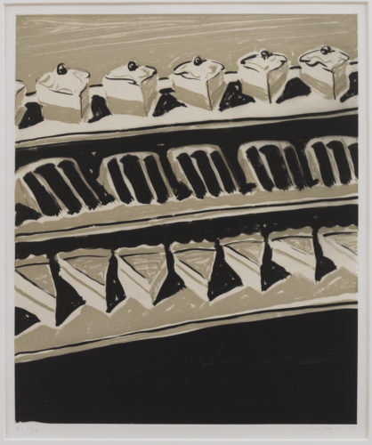 Dark Cakes And Pies by Wayne Thiebaud at
