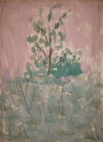 Trees With Mauve Sky by Milton Avery