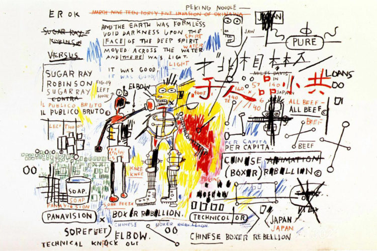 Boxer Rebellion by Jean-Michel Basquiat at