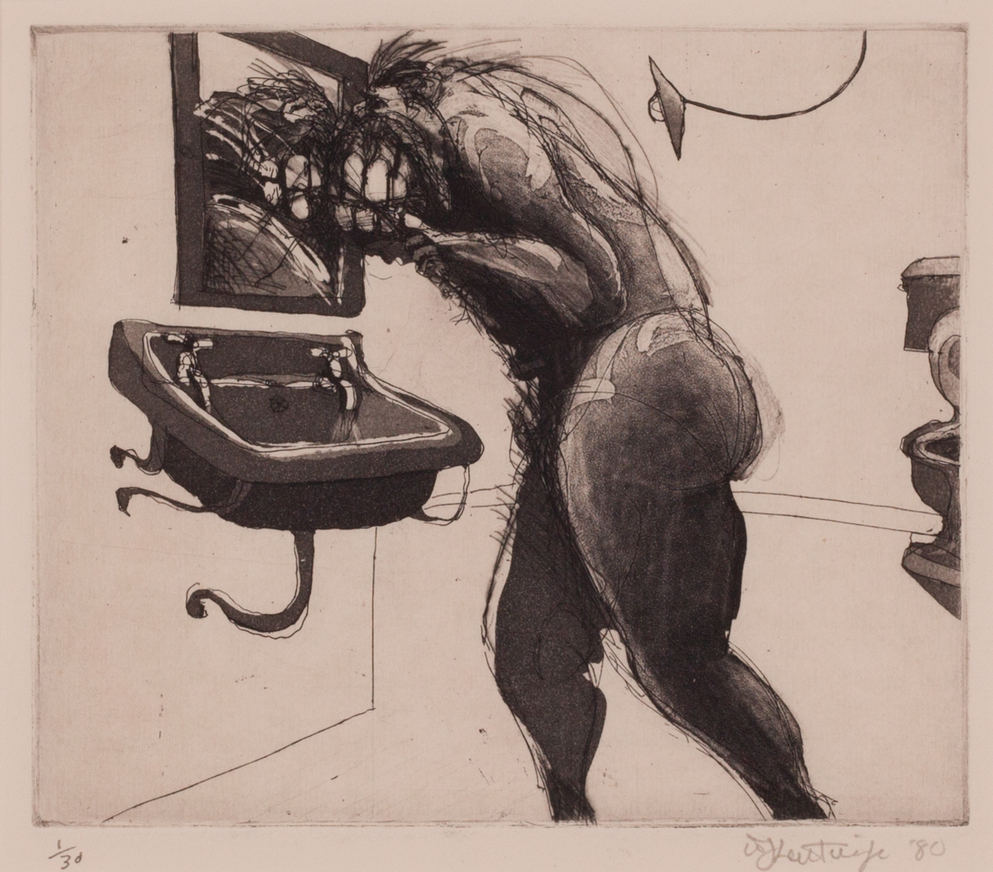 """Untitled, From The """"domestic Scenes"""" by William Kentridge"""